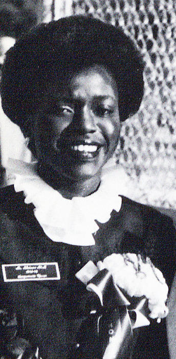 A portrait of Sanquenatta Gipson, named campus queen in 1982.