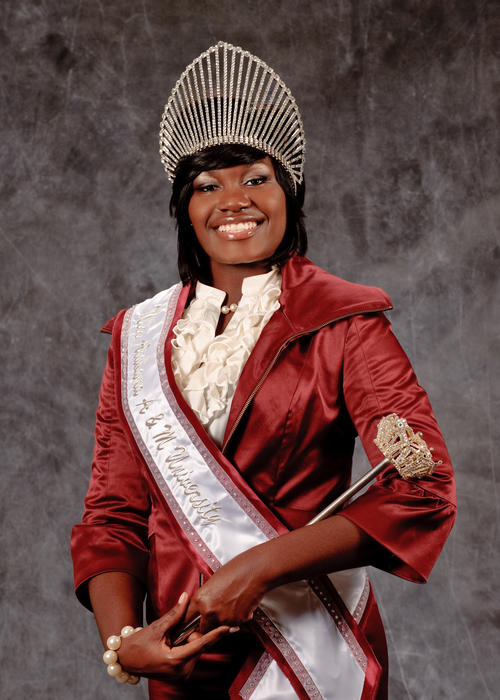 Brittany C. Jones, named campus queen in 2010., Digitized 2014-09 J. F. Drake Memorial LRC, Alabama A&M University.