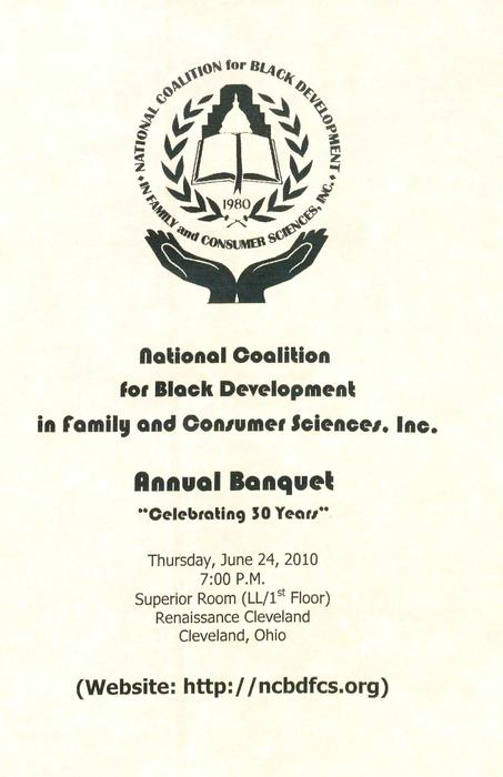 Title page of the annual banquet program., Digitized 2018-06 J. F. Drake Memorial LRC, Alabama A&M University.
