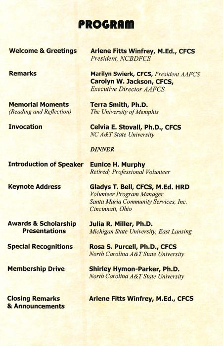 The annual banquet program of events., Digitized 2018-06 J. F. Drake Memorial LRC, Alabama A&M University.