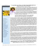 Dr. Julia Miller pays tribute to Dr. Ruth F. Davis: a guiding light in the family...