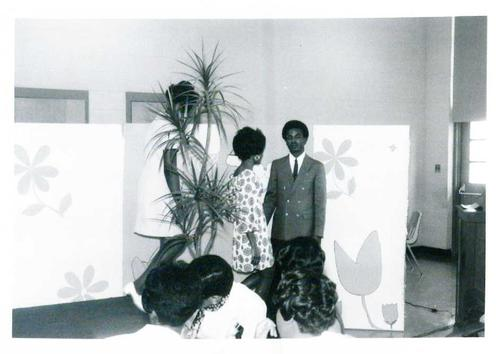 Digitized by J.F. Drake Memorial LRC; Alabama A&M University., College students participate in a fashion show.