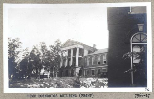 Photo of the Domestic Science Building where students were taught home economics.