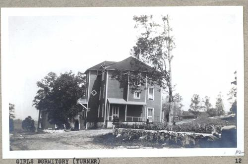 Turner Hall, which was the girls dormitory on campus.